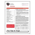 2016 Q3 Tax Tips & Traps