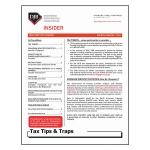 2016 Q4 Tax Tips & Traps