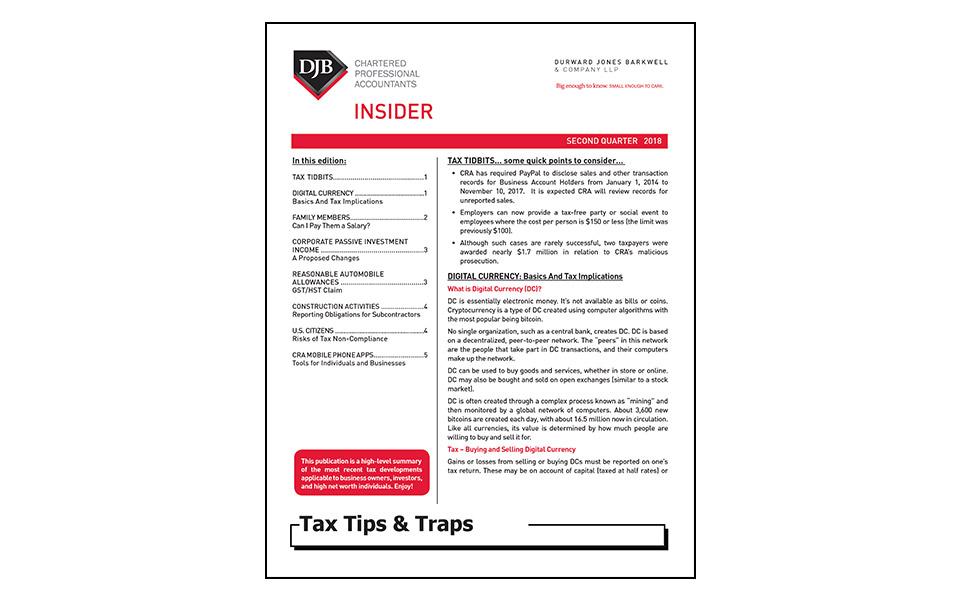 Tax Newsletter