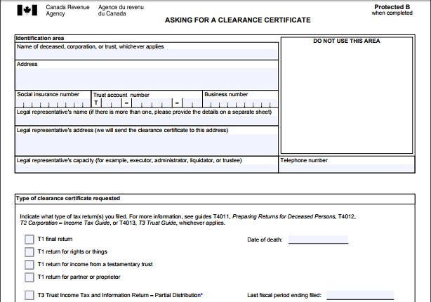 estate planning – don't forget about the tax clearance certificate ...