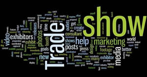 Infographic of words related to tradeshow