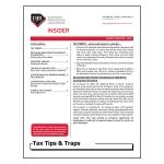 2018 Q4 Tax Tips & Traps