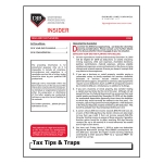 2018 Year-end Planning Tax Tips & Traps