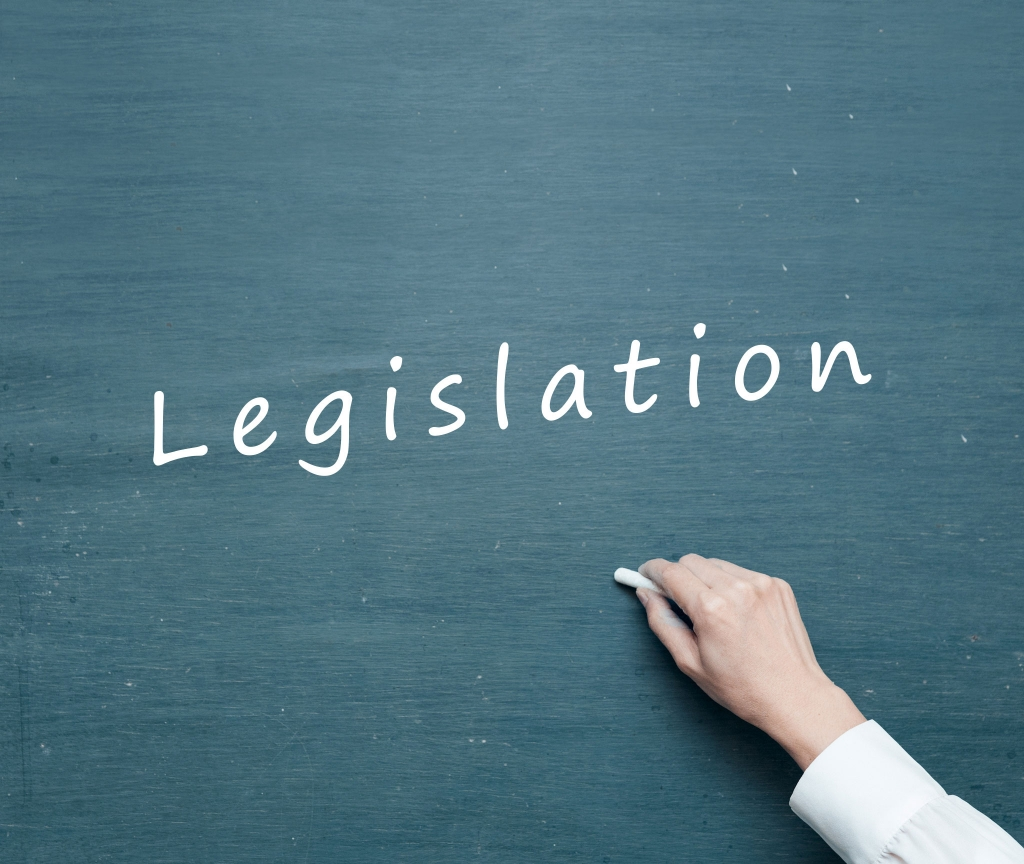 The word Legislation on a chalk board