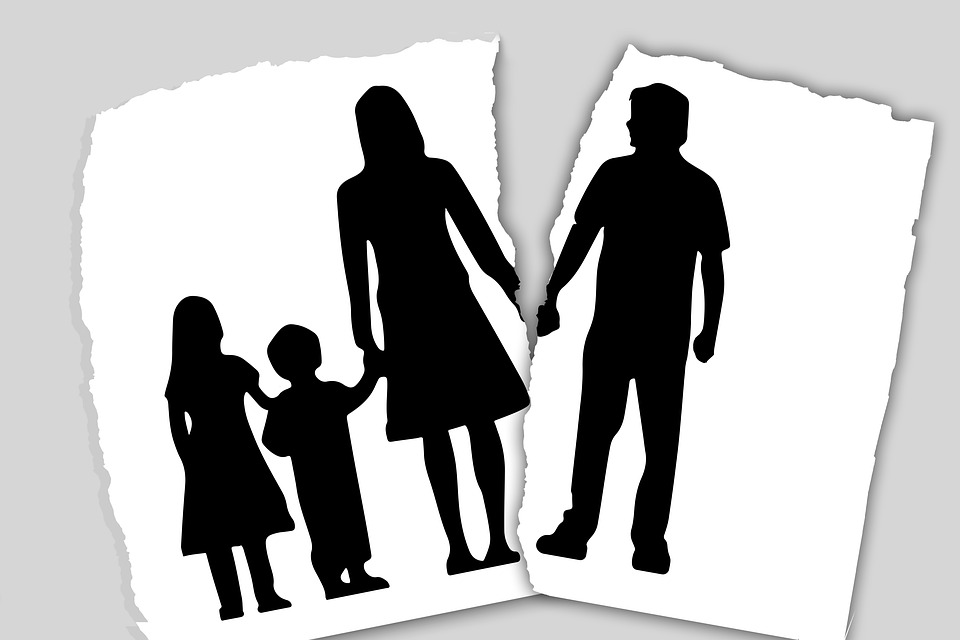 broken family - father split from mother and kids