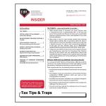 2019 Q3 Tax Tips & Traps