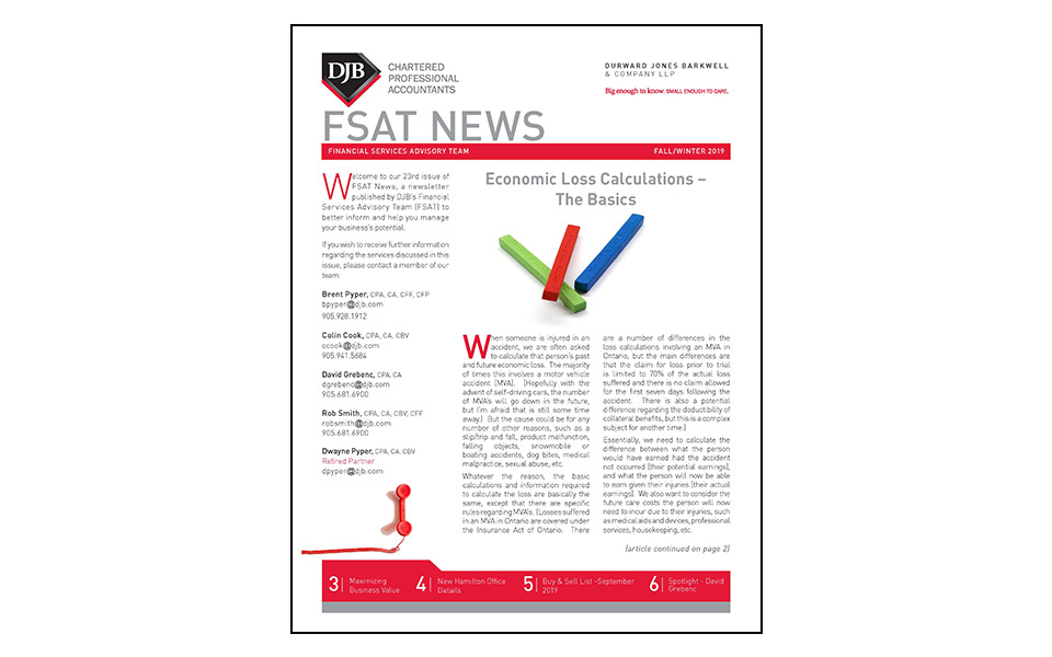 Thumbnail of front of the FSAT newsletter Fall 2019