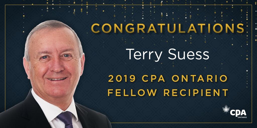 Terry Suess FCPA Congratulatory image