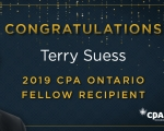 Congratulations to Terry Suess on being named a Fellow of CPA Ontario