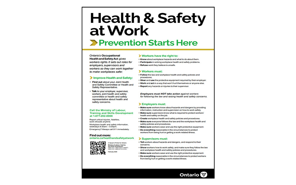 Health and Safety 2020 Poster thumbnail