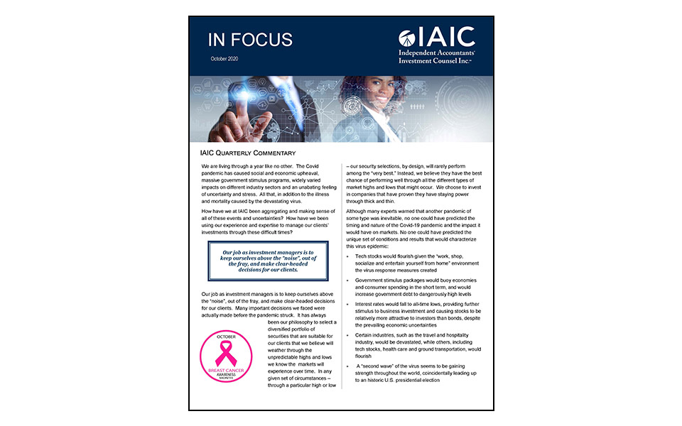 Cover of In Focus newsletter