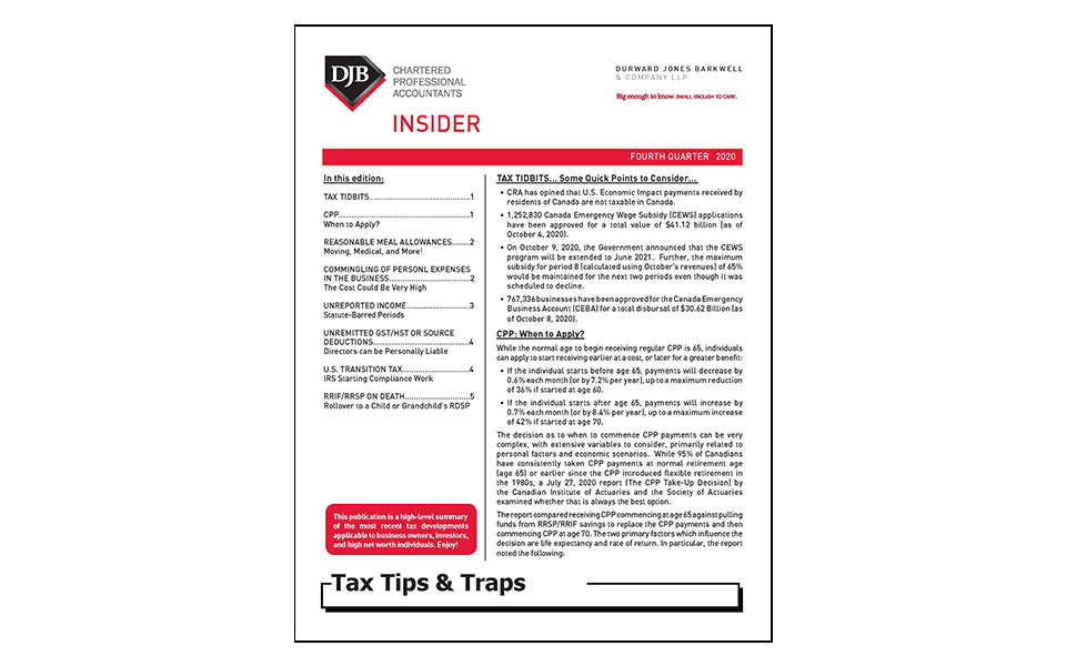 cover of Tax Tips Q4 newsletter