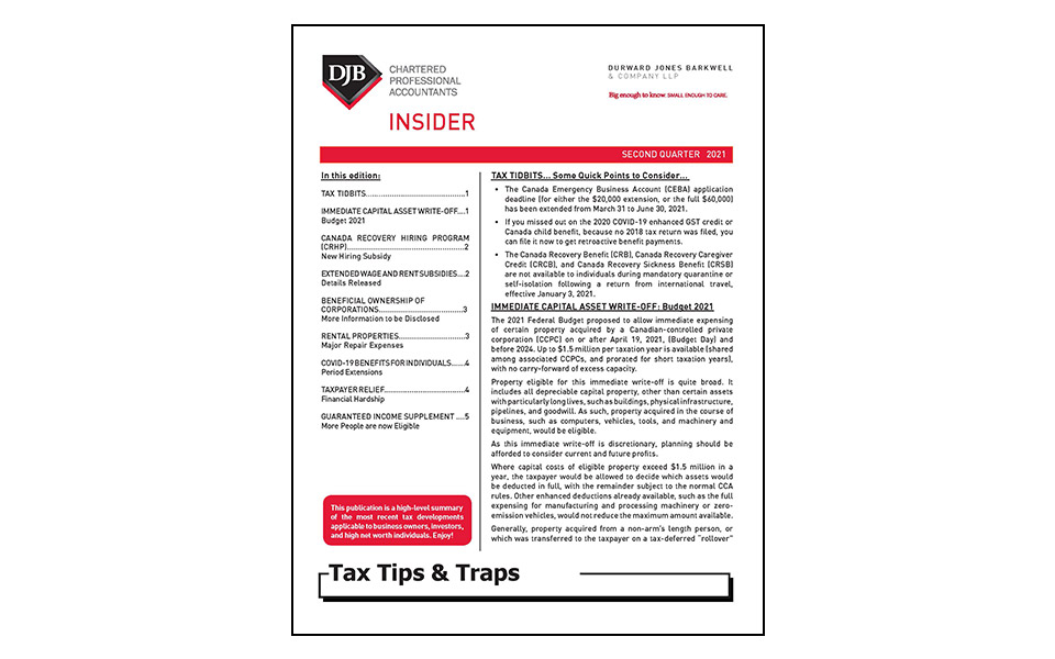 Cover of Tax Tips & Traps Q2 Newsletter