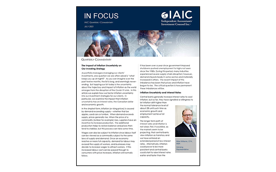Cover of IAIC July 21 edition