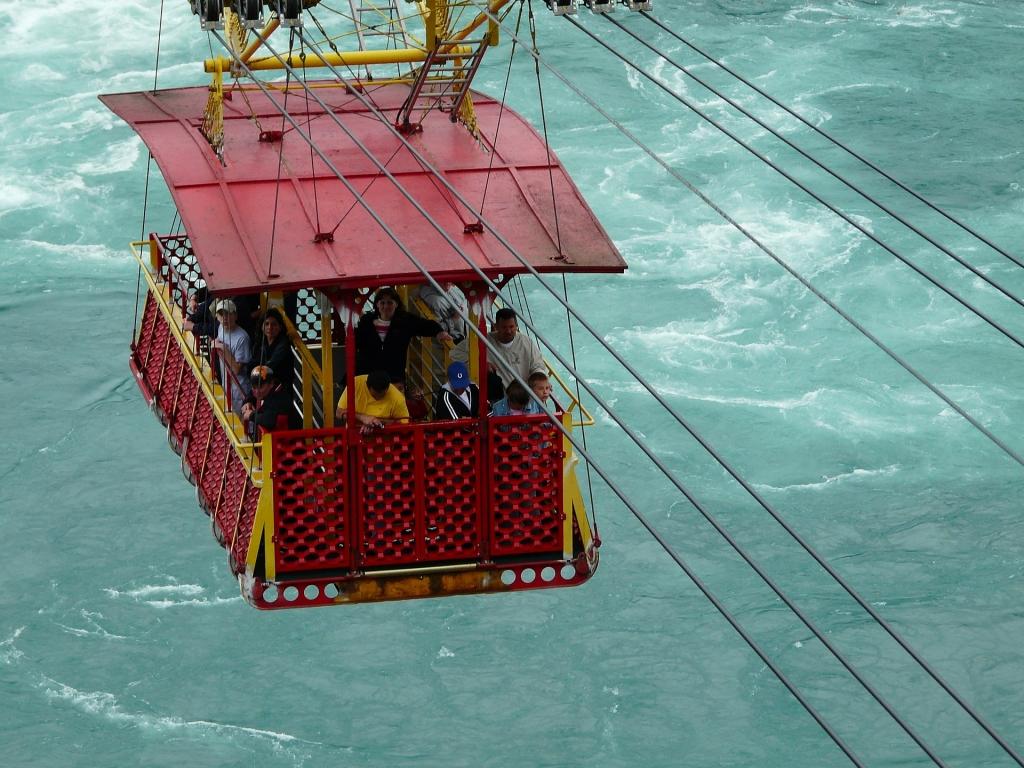 Trolley over the whirlpool rapids in Niagara Falls